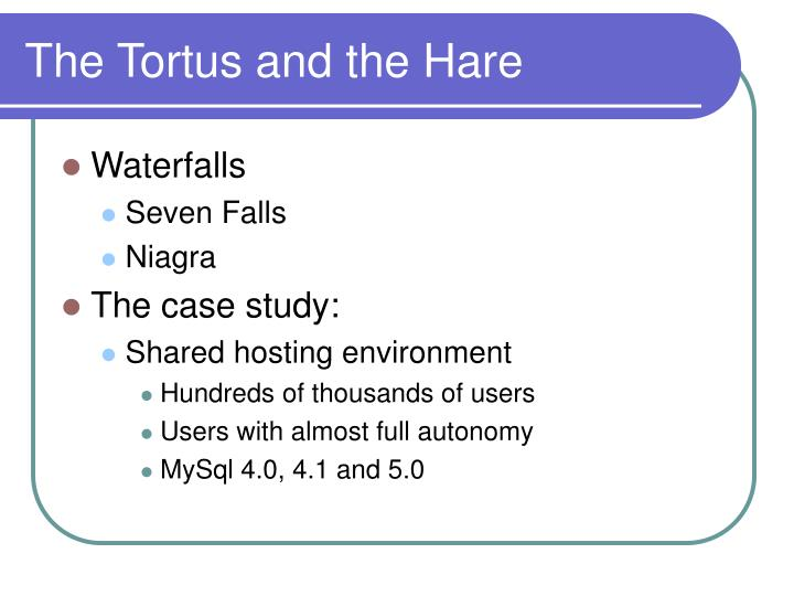 The Tortus and the Hare