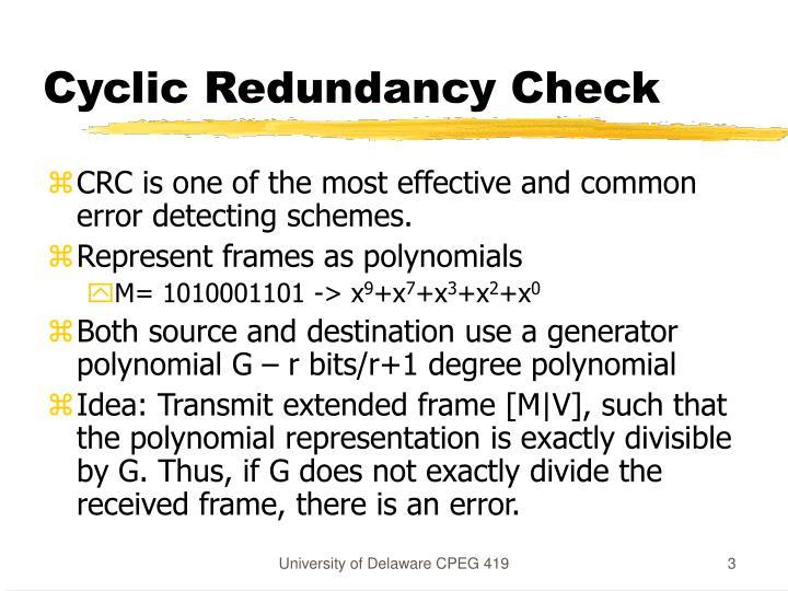 Cyclic Redundancy Check