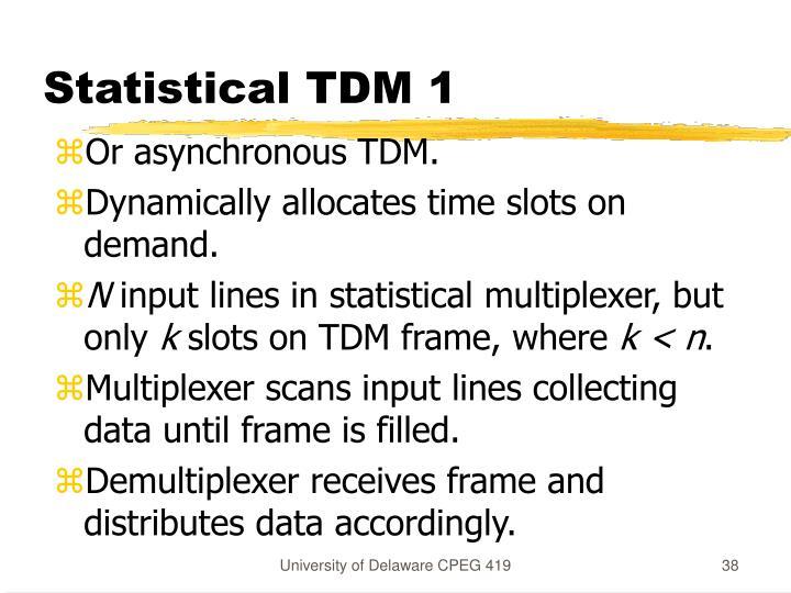 Statistical TDM 1