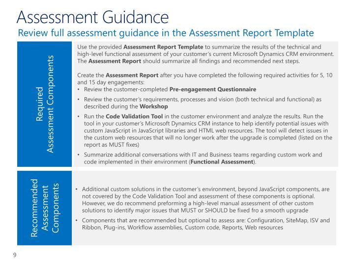 Assessment Guidance