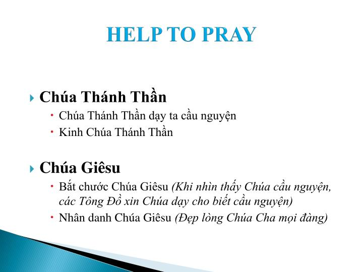 HELP TO PRAY