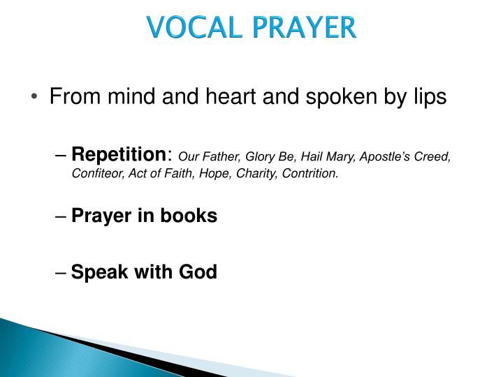 VOCAL PRAYER