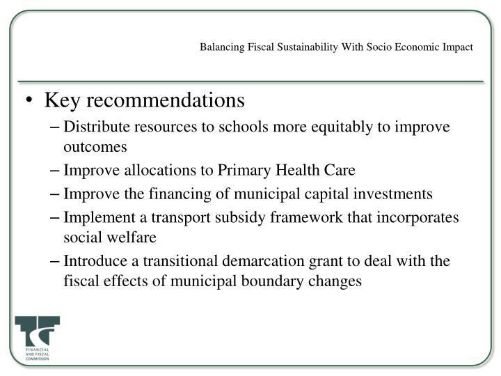 Balancing Fiscal Sustainability With Socio Economic Impact