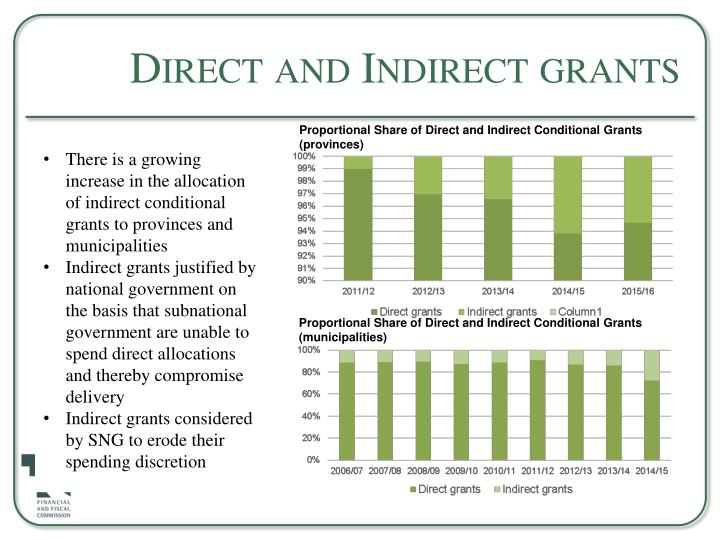 Direct and Indirect grants