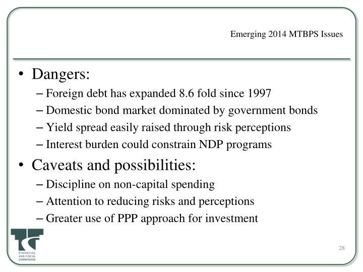 Emerging 2014 MTBPS Issues
