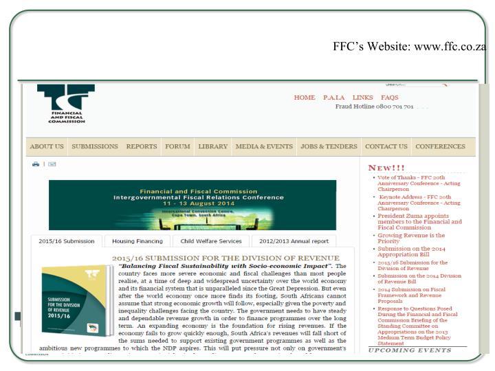 FFC's Website: www.ffc.co.za
