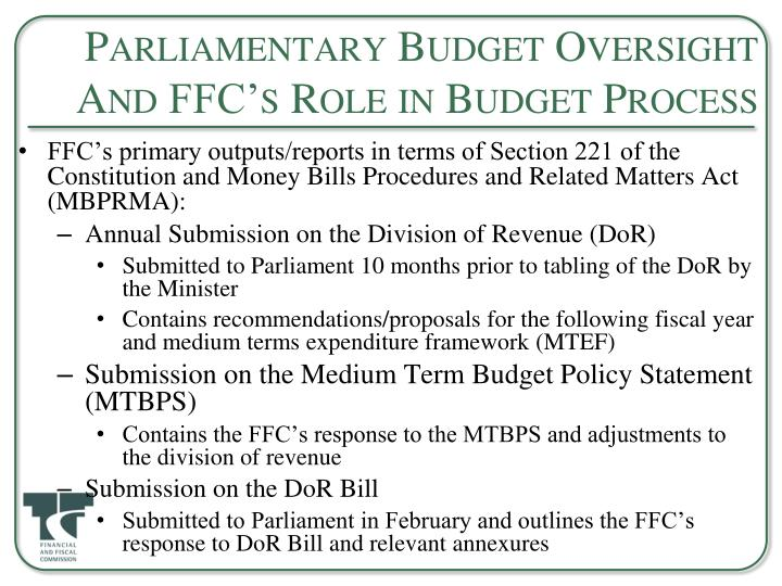 Parliamentary Budget Oversight And FFC's Role in Budget Process