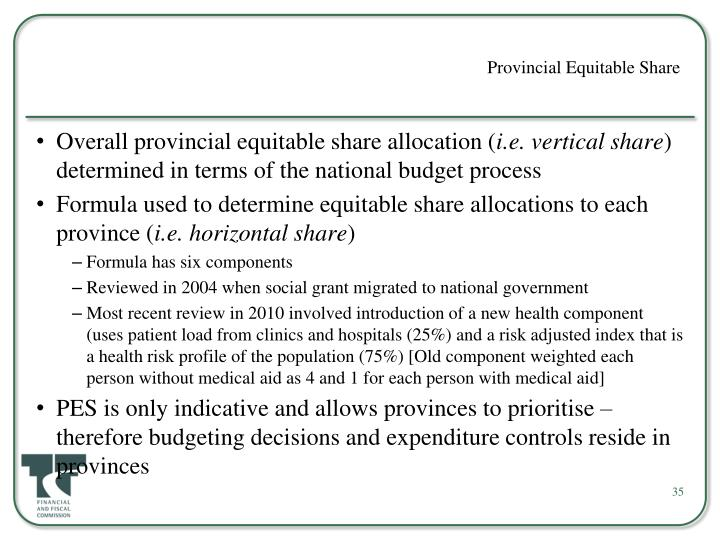 Provincial Equitable Share