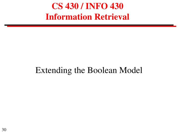 CS 430 / INFO 430