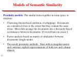 models of semantic similarity
