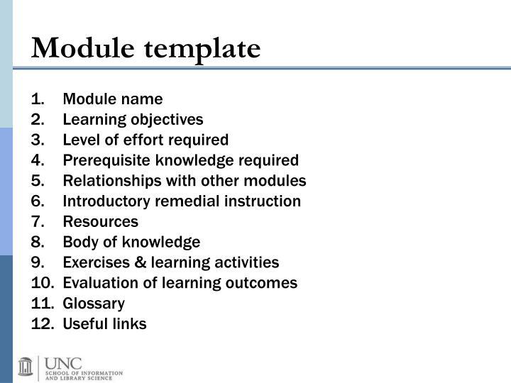 Module template
