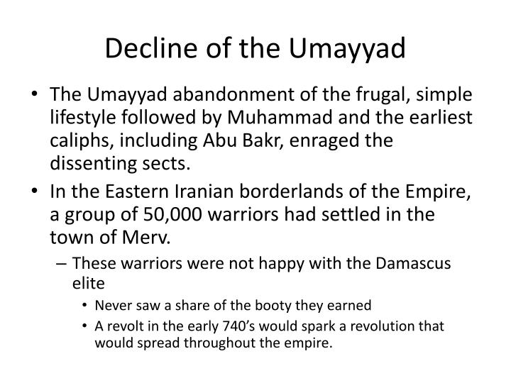 Decline of the Umayyad