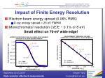 impact of finite energy resolution