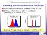 summing multi shots improves resolution