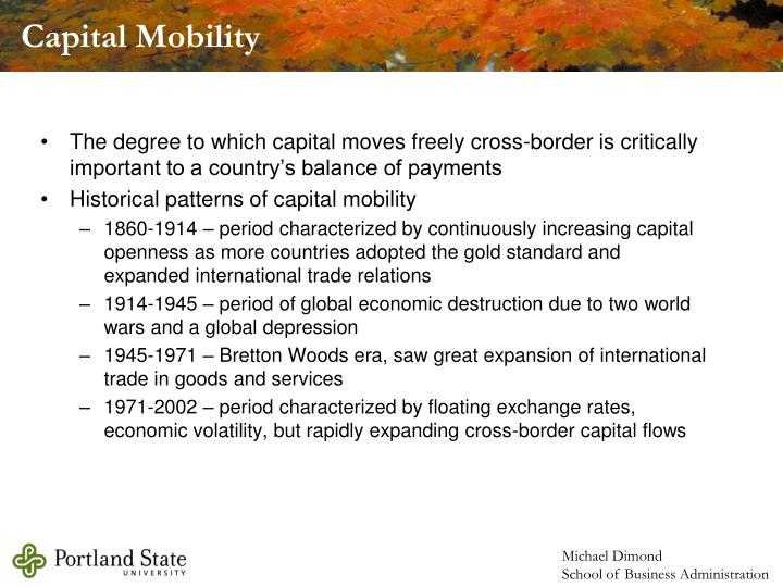 Capital Mobility