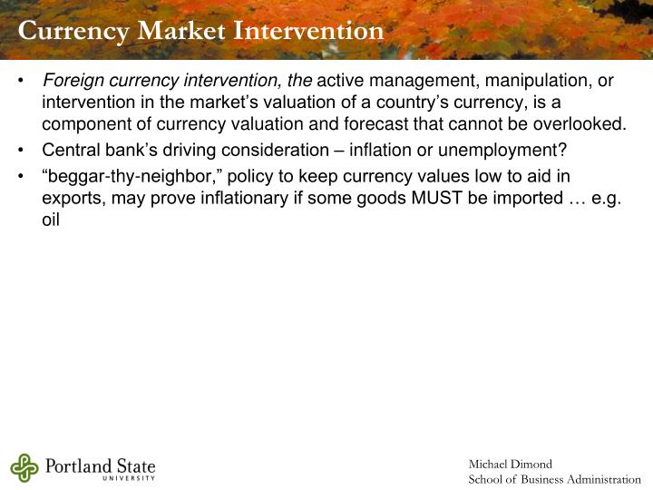 Currency Market Intervention
