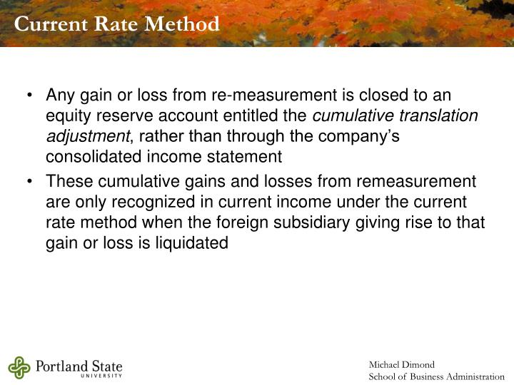 Current Rate Method