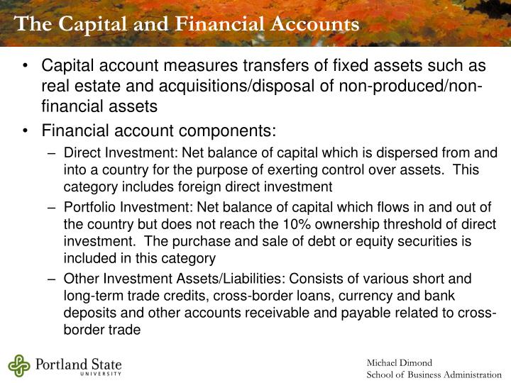 The Capital and Financial Accounts