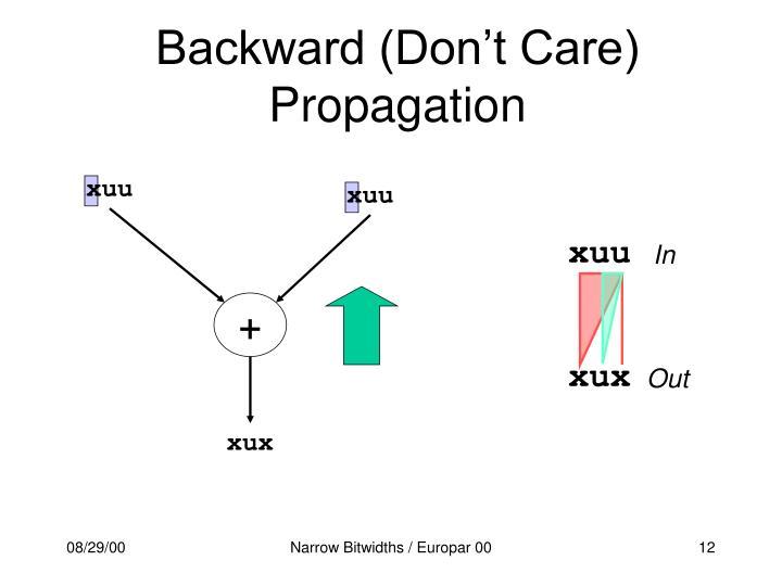 Backward (Don't Care) Propagation
