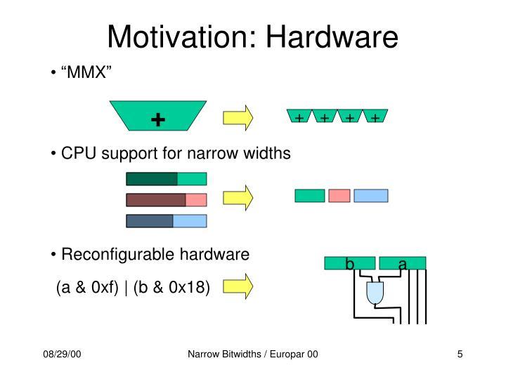 Motivation: Hardware