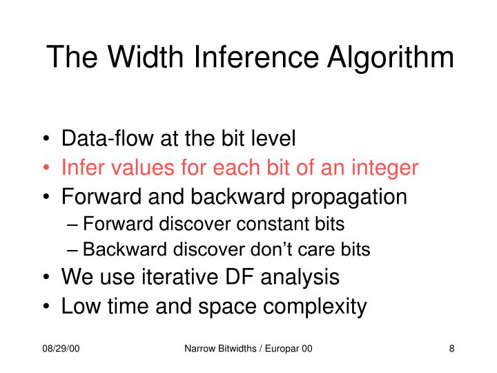 The Width Inference Algorithm