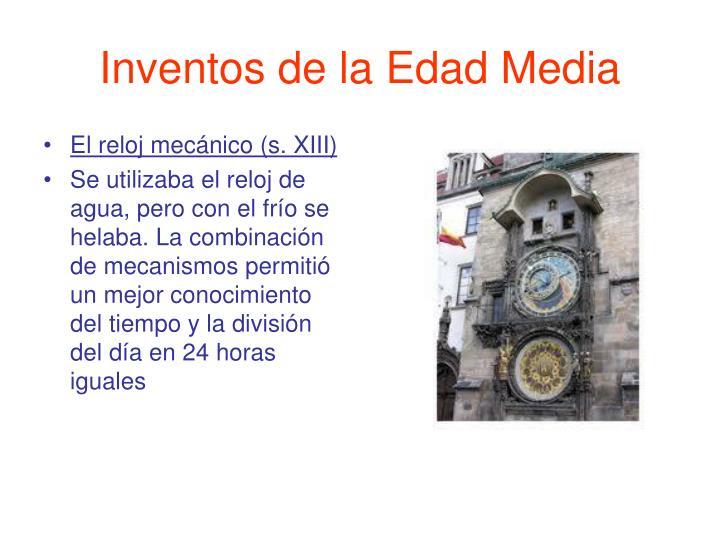 Inventos de la Edad Media