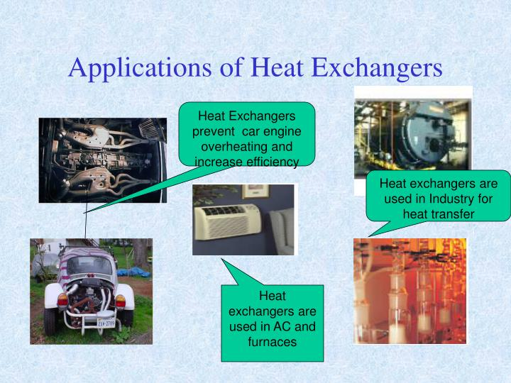Applications of Heat Exchangers