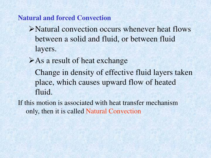 Natural and forced Convection