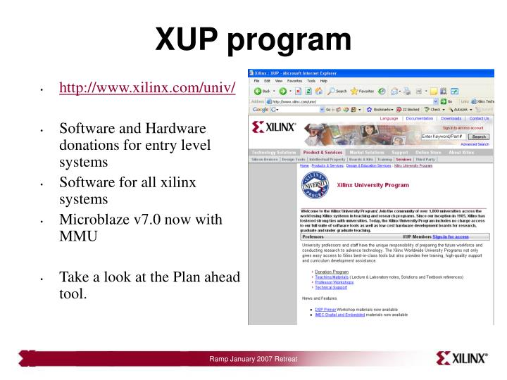XUP program