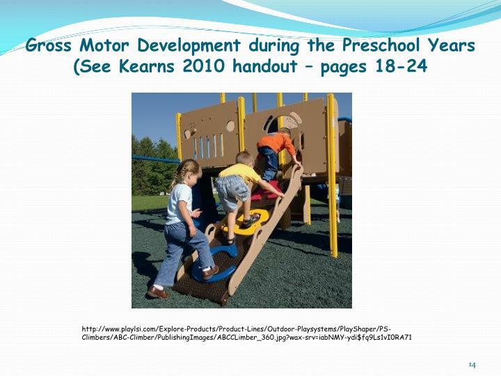 Gross Motor Development during the Preschool Years
