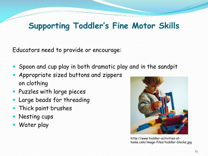 Supporting Toddler's Fine Motor Skills