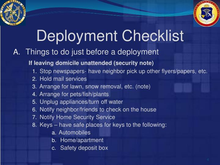 Deployment Checklist