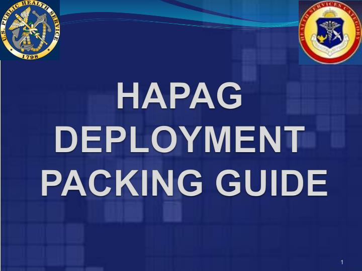hapag deployment packing guide