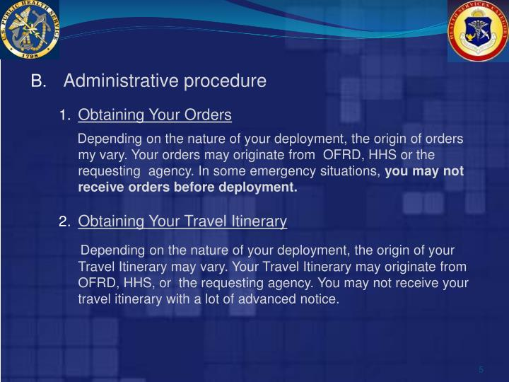 Administrative procedure