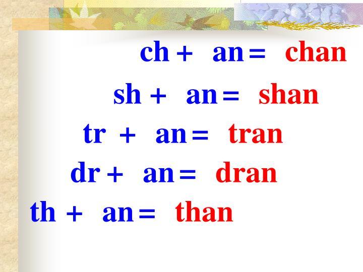 ch+an=
