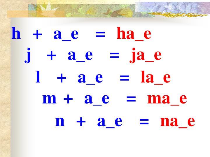 h+a_e=