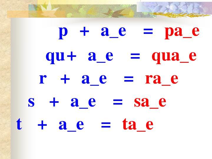 p+a_e=