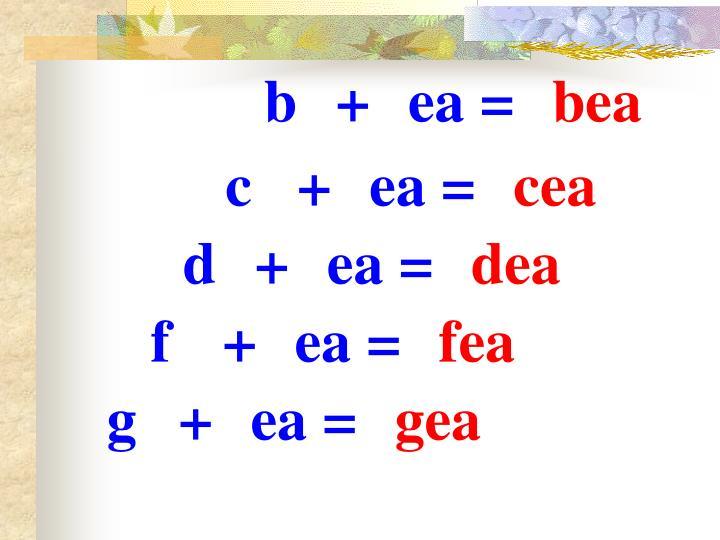 b+ea=