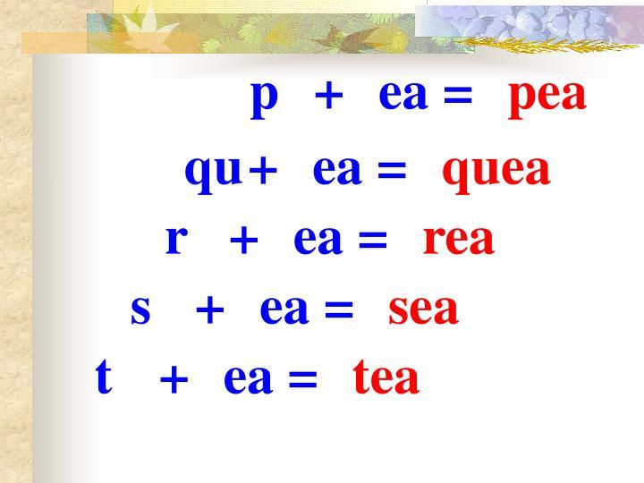 p+ea=