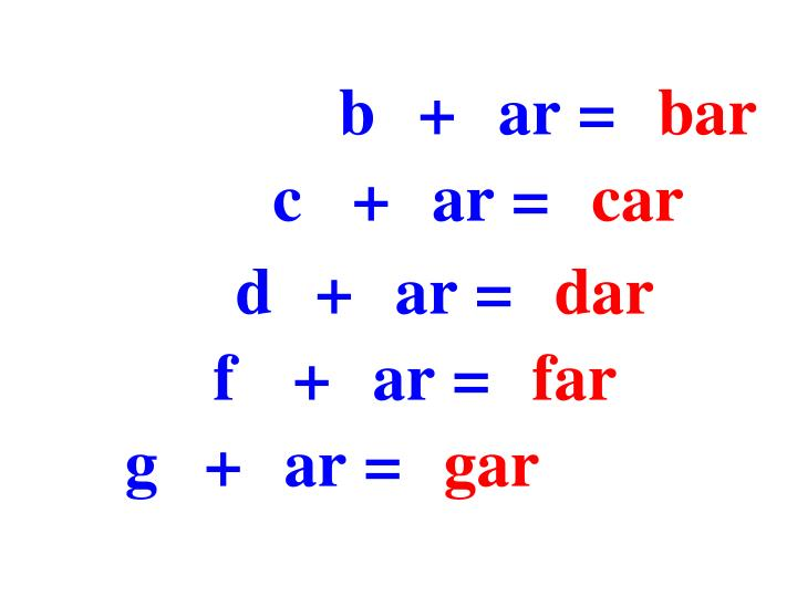 b+ar=