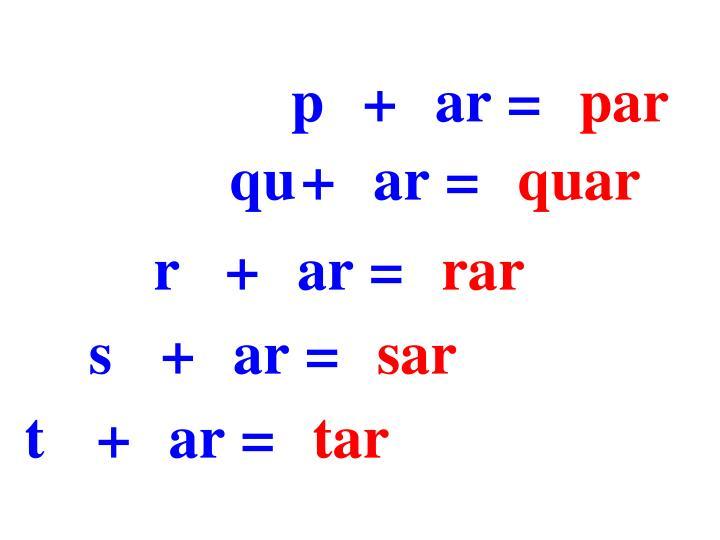 p+ar=