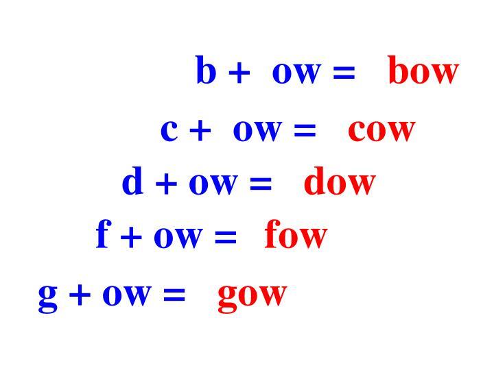 b +  ow =