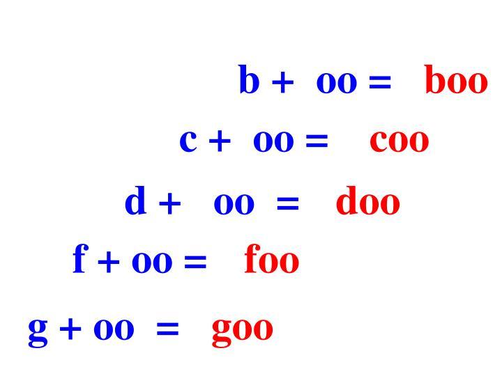 b +  oo =