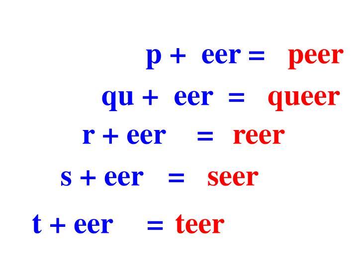 p +  eer =
