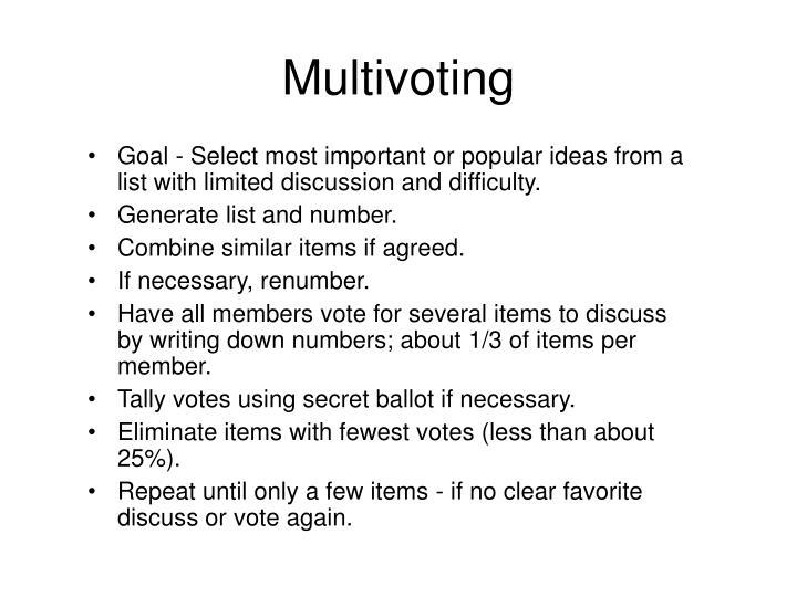 Multivoting