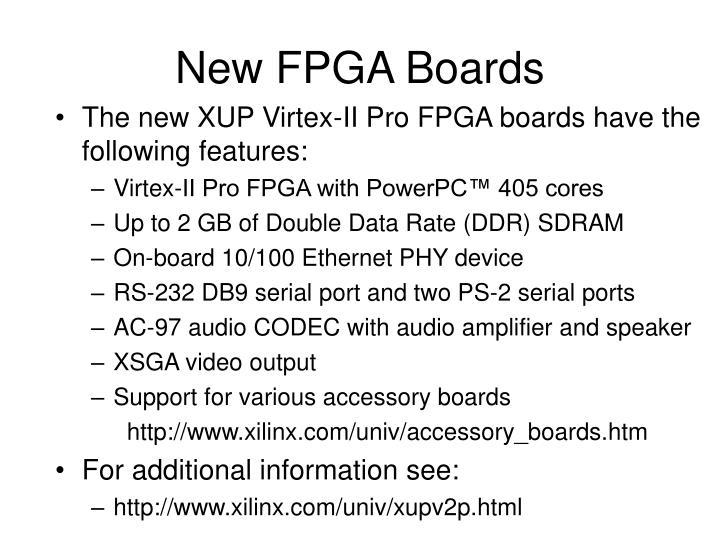 New FPGA Boards