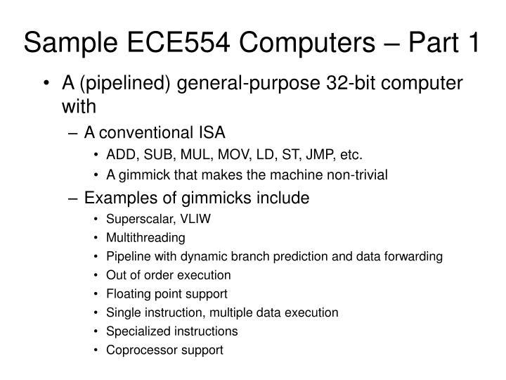 Sample ECE554 Computers – Part 1