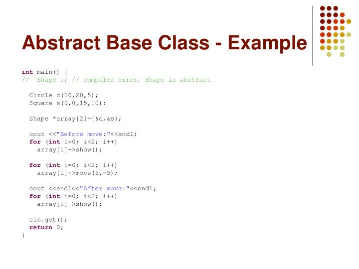 Abstract Base Class - Example