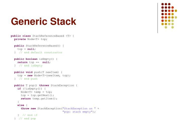 Generic Stack