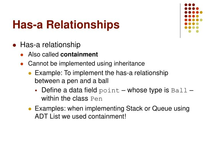Has-a Relationships